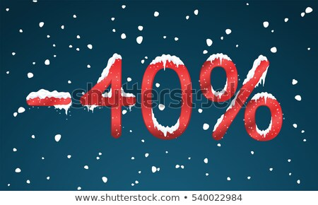 Red minus forty percent Stock photo © Oakozhan