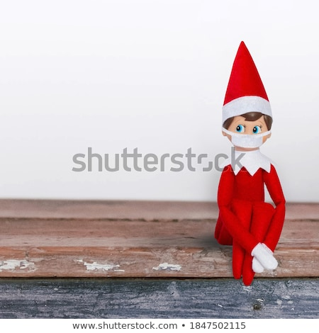 shelves christmas tree red background stock photo © romvo