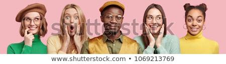 Moda fotoğraf sarışın kadın tüm pembe high fashion Stok fotoğraf © NeonShot