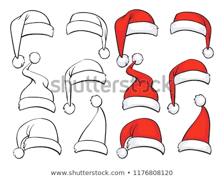 Set doodle Christmas hats Stock photo © frescomovie