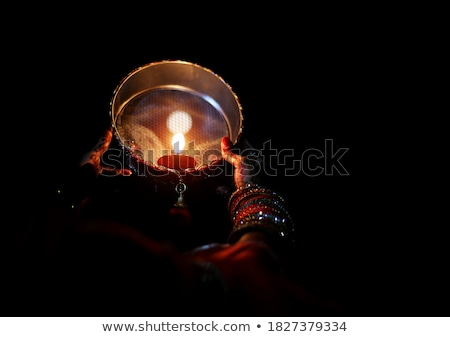 Young female holding a sieve Stock photo © IS2