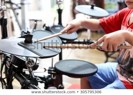 мало · барабанщик · мальчика · игрушку · красочный · барабан - Сток-фото © rastudio