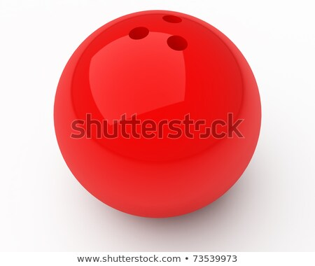 3d glassy ball over white Stock photo © cienpies