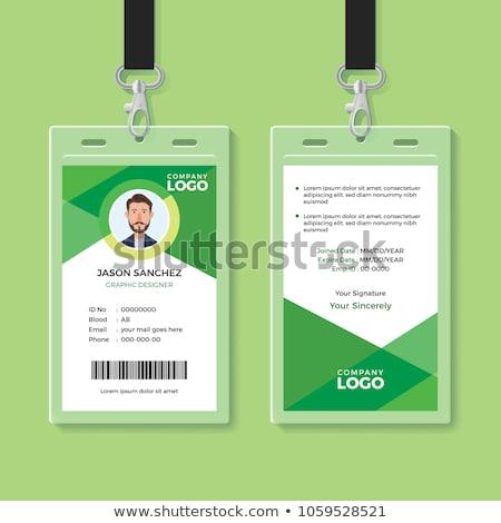 kaart · lege · badge · geïsoleerd · witte - stockfoto © sarts