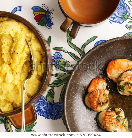 Saffron mash and shrimp Stock photo © IS2