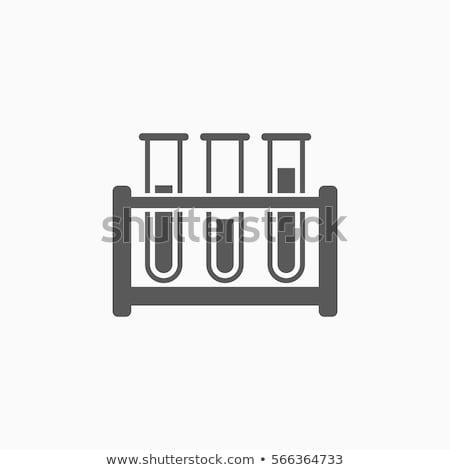 Tube à essai rack test médicaux science Photo stock © IS2