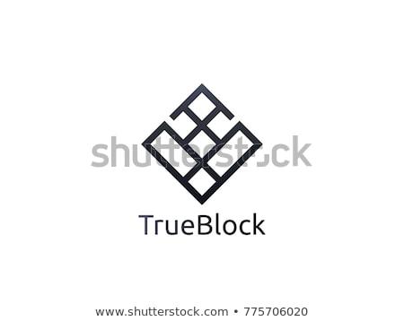 tile wall logo icon for carpet, floor, ceramic industry. hexagon box concept design template vector Stock photo © taufik_al_amin