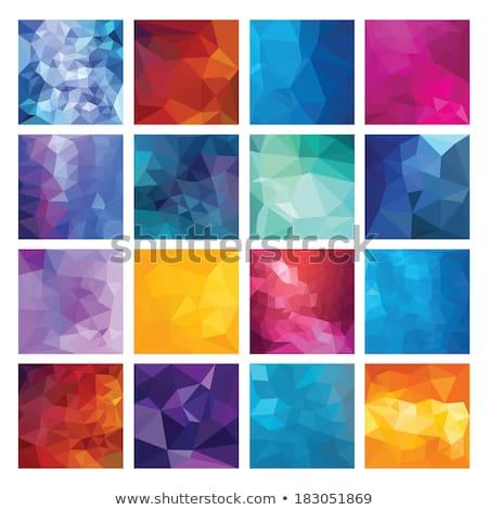 verde · abstrato · mosaico · projeto · conceitos · pôsteres - foto stock © molaruso