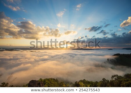 Autumn Landscape with a view of the top of the mountain Stock photo © Kotenko