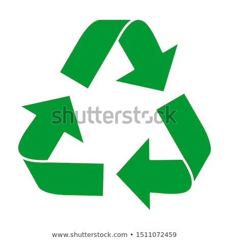 Recycle sign logo icon. isolated on white background vector illustration. Stock photo © taufik_al_amin