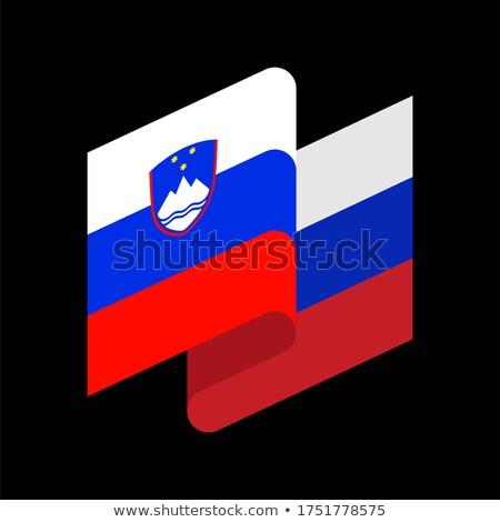 Slovenia Flag isolated. Slovenian ribbon banner. state symbol Stock photo © popaukropa