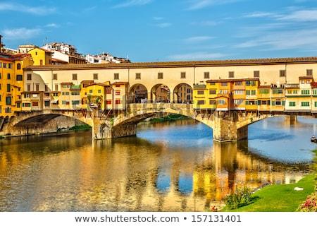 Híd Florence kilátás folyó utca Olaszország Stock fotó © Artspace
