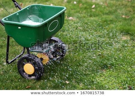Műtrágya tipográfia illusztráció kertész terv növények Stock fotó © lenm