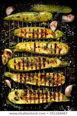 Gegrillt Zucchini Kraut Hintergrund Essen Ernährung Stock foto © M-studio
