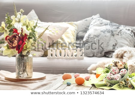tradicional · páscoa · café · da · manhã · tabela · ovos - foto stock © melnyk