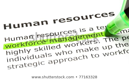 'Workforce management' highlighted, under 'Human resources' Stock photo © ivelin