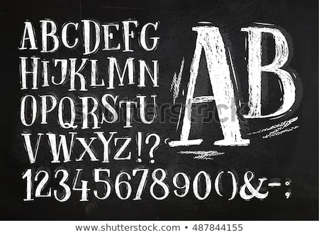 Quadro-negro alfabeto números mão assinar Foto stock © ikopylov
