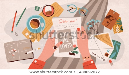Cartoon · конверт · карандашом · иллюстрация · обувь - Сток-фото © bennerdesign