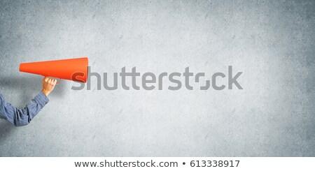 男 発表 メガホン 騒々しい テクスチャ ストックフォト © ichiosea