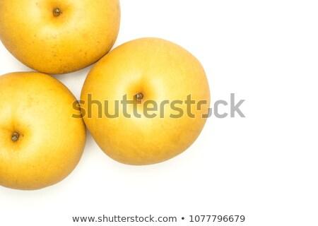 中国語 · 梨 · 白 · 食品 · リンゴ · 健康 - ストックフォト © ungpaoman