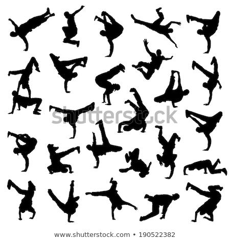 Silhouette break dance Stock photo © lemony