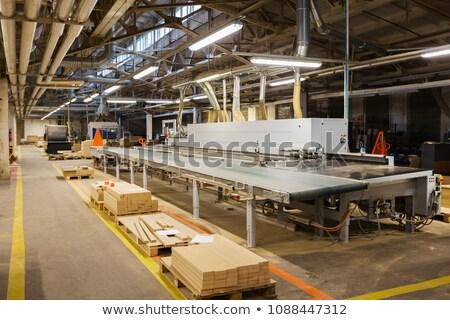 fa · deszka · bútor · gyár · gyártás · ipar · műhely - stock fotó © dolgachov