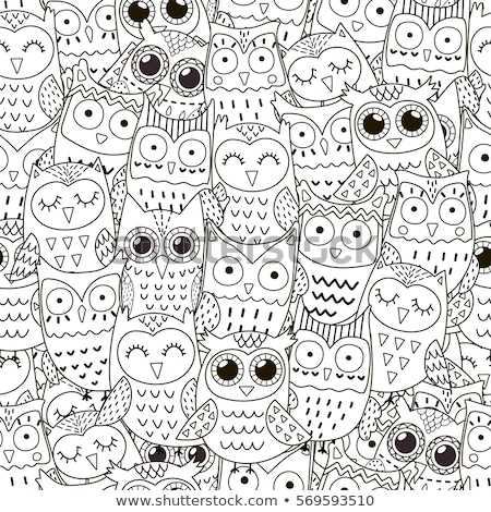 Owl for coloring page or decoration for children Stock photo © Natalia_1947