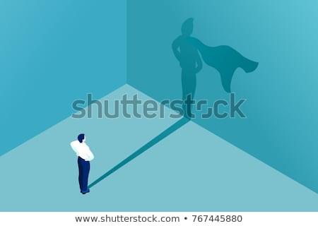 süper · işadamı · karakter · vektör · başarılı · süper · kahraman - stok fotoğraf © tarikvision