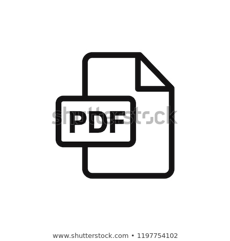 pdf vector icon stock photo © smoki