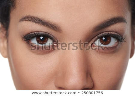 女性 ブラウン 眼 顔 抽象的な 黒 ストックフォト © ESSL