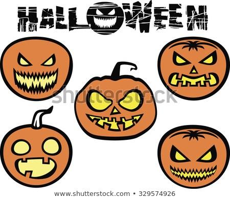 Halloween fiesta volante miedo calabazas naranja Foto stock © articular