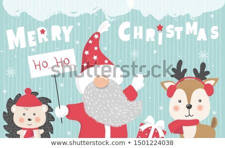 christmas design with santa characters stock photo © izakowski