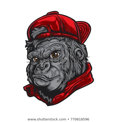 Cartoon enojado vaquero gorila mirando Foto stock © cthoman