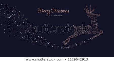 neşeli · Noel · yılbaşı · geyik · art · deco - stok fotoğraf © cienpies