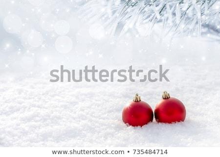 Рождества снега синий карт фары Сток-фото © alexaldo