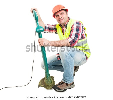 Fűnyíró fűnyíró fűnyíró körülvágó izolált fehér Stock fotó © studiostoks
