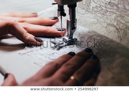 Stok fotoğraf: Kişi · bez · dikiş · makinesi · dizayn · teknoloji