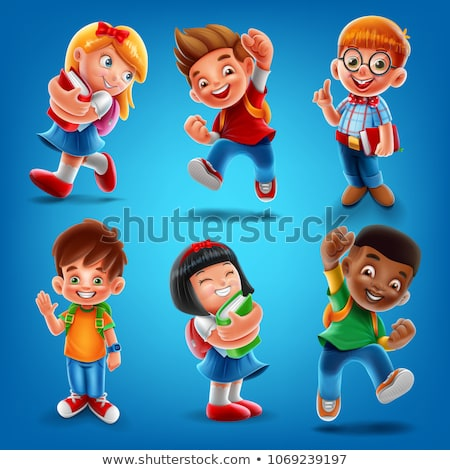 Back to School Bag Posters Set Vector Illustration Stock photo © robuart