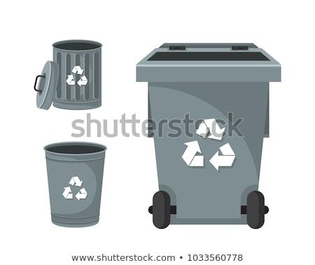 Modern Recycle Mixed Waste Garbage Bin Illustration Set. Stock photo © tashatuvango