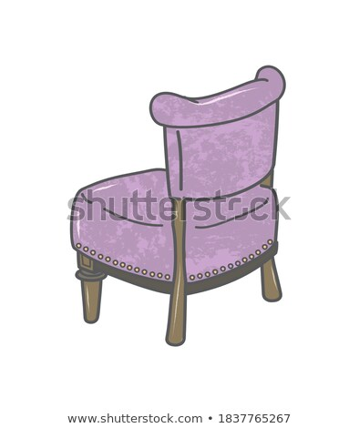 Purple Office Chair Closeup Vector Illustration Stock photo © robuart