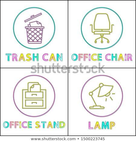 Bureau linéaire environnement poubelle Photo stock © robuart