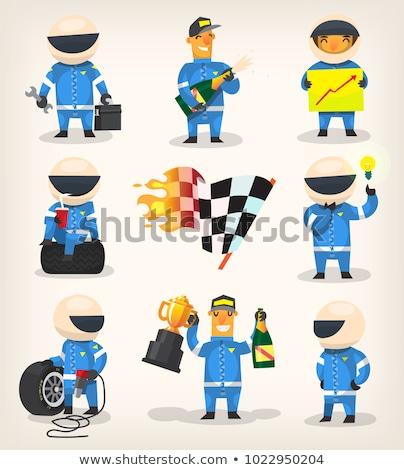 Cartoon Race Car Driver  Idea Stock photo © cthoman