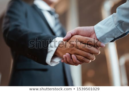 manager shaking hands of business partner in meeting room stock photo © diego_cervo