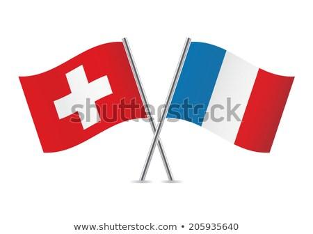 Two waving flags of France and switzerland Stock photo © MikhailMishchenko