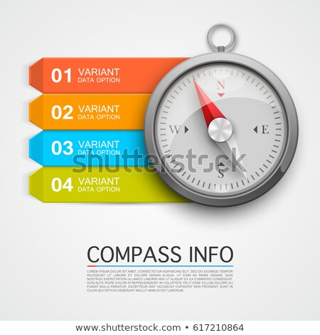 Stock photo: Compass on White Background, Info Concept