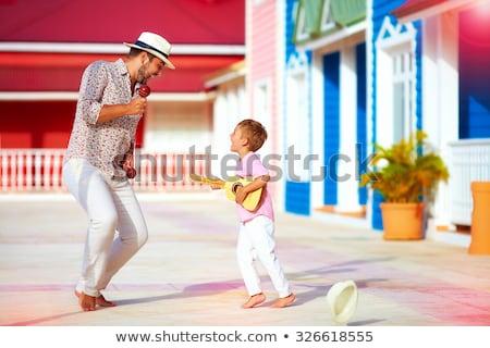 children playing music on the street stock photo © colematt