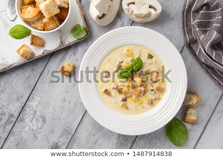 Potatoes with champignons Stock photo © AGfoto