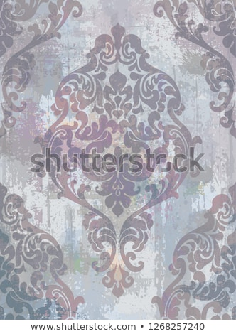 Rococo texture pattern Vector. Floral ornament decoration old effect. Victorian engraved retro desig Stock photo © frimufilms