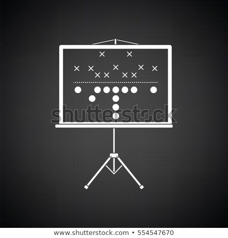 americano · partido · de · fútbol · plan · stand · icono · gris - foto stock © angelp