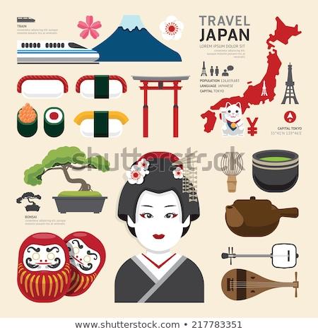 Japón iconos diseno viaje eps 10 Foto stock © netkov1